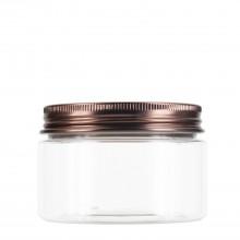 #67 120 ml / 4 oz Clear PET Jar  w/ Bronze Aluminum Cap
