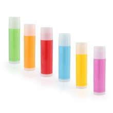 LIP BALM TUBES + Caps, Colored, Pearlized