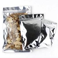 Mylar Bags - Zip Lock, Clear + Silver