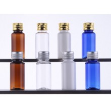 15ml PET Bottles w/ Metal Screw Cap