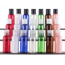 50ml PET Bottles w/ Black Disc-Top Cap