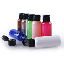 50ml PET Bottles w/ Black Flip Cap