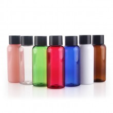 50ml PET Bottles w/ Black Plastic Screw Cap