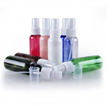 50ml PET Bottles w/ White Spray Pump Cap