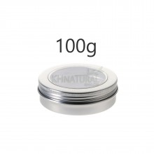 100ml Silver Tins w/ View Window