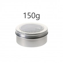150ml Silver Tins w/ View Window