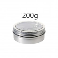 200ml Silver Tins w/ View Window