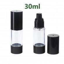 Airless Pump bottles - Black + Clear 30ml