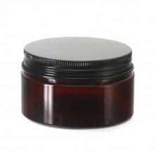 #67 PET Jar Amber 100ml / 3.4oz w/ Black Aluminum Cap