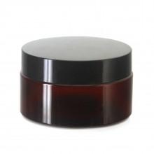 #67 PET Jar Amber 100ml / 3.4oz w/ Black Plastic Cap