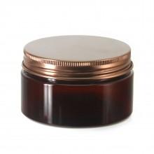 #67 PET Jar Amber 100ml / 3.4oz w/ Bronze Aluminum Cap