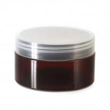#67 PET Jar Amber 100ml / 3.4oz w/ Clear Plastic Cap