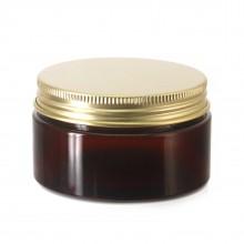#67 PET Jar Amber 100ml / 3.4oz w/ Gold Aluminum Cap