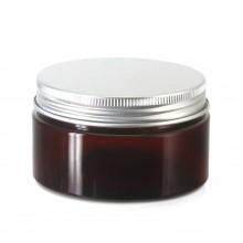 #67 PET Jar Amber 100ml / 3.4oz w/ Silver Aluminum Cap