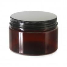 #67 PET Jar Amber 120ml / 4oz w/ Black Aluminum Cap
