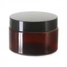 #67 PET Jar Amber 120ml / 4oz w/ Black Plastic Cap