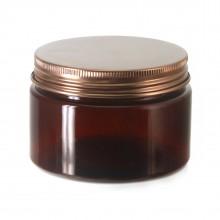 #67 PET Jar Amber 120ml / 4oz w/ Bronze Aluminum Cap