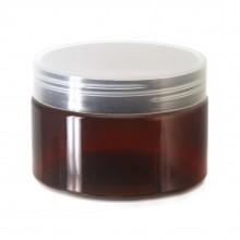 #67 PET Jar Amber 120ml / 4oz w/ Clear Plastic Cap