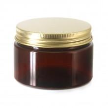 #67 PET Jar Amber 120ml / 4oz w/ Gold Aluminum Cap