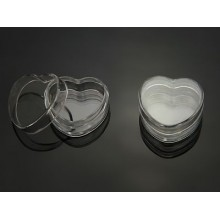 Plastic pots, Heart Shaped, Clear, 5ml 0.17oz