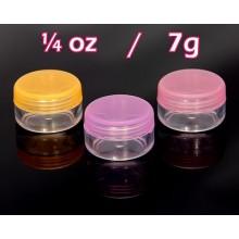 Cosmetic Pots  7g Pink Purple Orange 0.25 oz