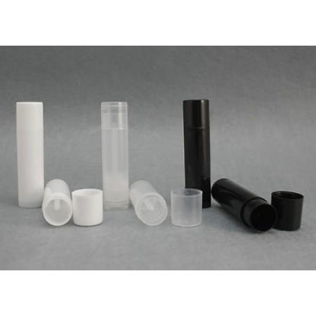LIP BALM Tubes + Caps ( Clear / Black / White )