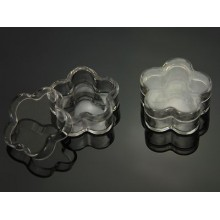 Plastic pots, Daisy Flower Shaped, Clear, 5ml