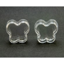 Plastic pots, Butterfly Shaped, Clear, 6ml