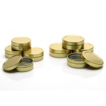 10ml 20ml Gold Tins, Pressure fit Caps