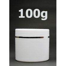 White Double Wall Plastic Jars 100ml