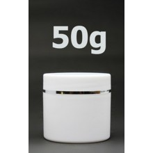 White Double Wall Plastic Jars 50ml